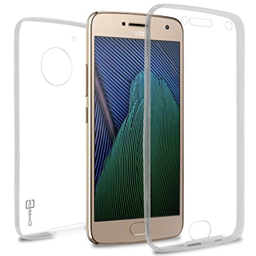 Moto G5 Plus Case, Moto G Plus 5th Generation Case, Moto X 2017 Case, CoverON [WrapGuard Series] Full Body Two Piece Ultra Slim Fit Clear TPU Cover for Motorola Moto X (2017 Version) / G5 Plus Clear (Mobile G Boost Moto Cases)