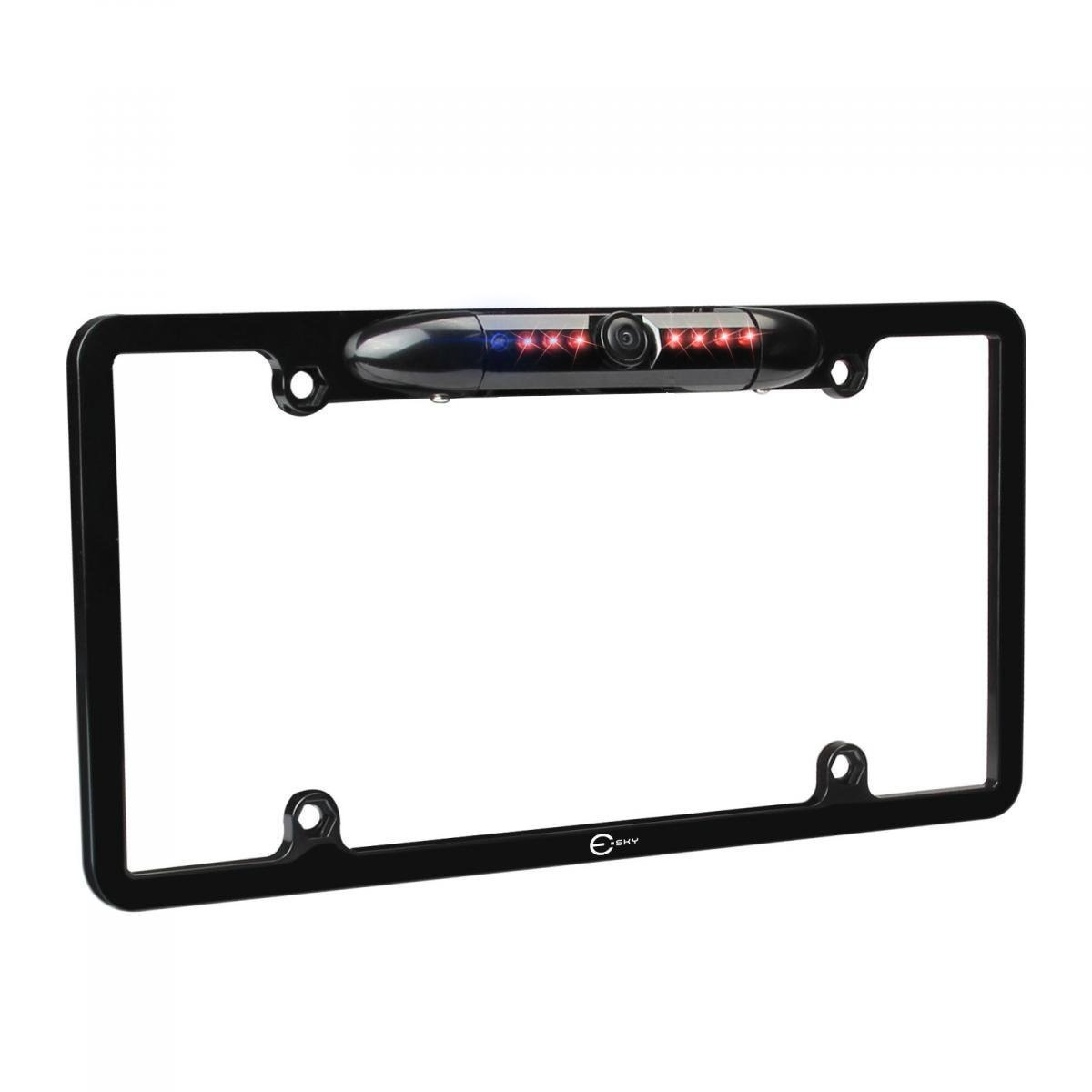 License Plate Backup Camera, Esky Rear View Camera 170° Viewing Angle Universal Car License Plate Frame Mount Waterproof High Sensitive 8 IR LED [The Wirecutter's Pick]