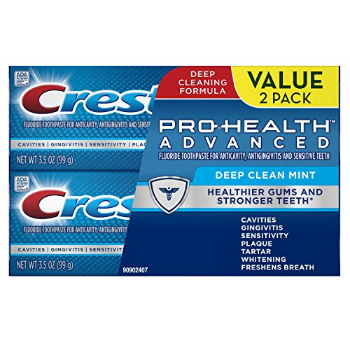 (Crest Pro-Health Advanced Deep Clean Mint Toothpaste, Pack of 2.)