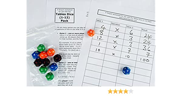 Multiplication Tables Dice Pack (up to 12 Times Tables): Amazon.es: Electrónica