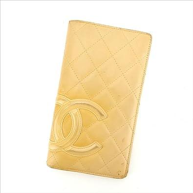 246c4310cb93 (シャネル) Chanel 長財布 ファスナー付き長財布 ベージュ×オレンジ カンボンライン レディース 中古