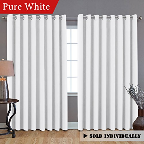 H.VERSAILTEX White Curtain Thermal Insulated Extra Long Panel/Drapes (100