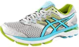 ASICS Women's GT-2000 4 Running Shoe, Silver/Turquoise/Lime Punch, 8 M US