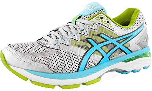 0 4 Running Shoe, Silver/Turquoise/Lime Punch, 6 D US ()