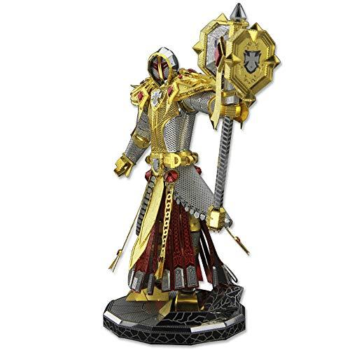 Picture Kingdom 3D Metal Nano Puzzle Wow Paladin Judge Figure Model Kits PJ-200 DIY 3D Laser Cut Jigsaw Toy (World Of Warcraft Pj)