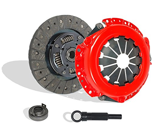 Clutch Kit Works With Mirage Laser Eagle Talon Elantra Colt LS Base Turbo S 100 Vista Gt 1987-2002 1.8L l4 GAS SOHC Naturally Aspirated (Stage 1; Flywheel Spec: Flat; From 12/86; Hydraulic Linkage)