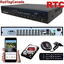 Sikker Standalone 16 Ch Channel Surveillance H.264 DVR Security system HDMI 4TB HARD DRIVE