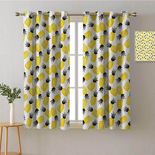 ScottDecor Curtain Kitchen Grommets Light Darkening Curtains Printed Darkening Curtains Sunbeams Isolated Darkening Curtains Bedroom/Living (1 Pair, 31.5