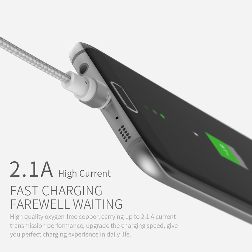 Wsken X Cable Round Magnetic For Type C 1m Hitam Update Rexus Usb Data Cb124m Micro 2m Fast Charging 24a Charger Xd Panda Amazoncouk