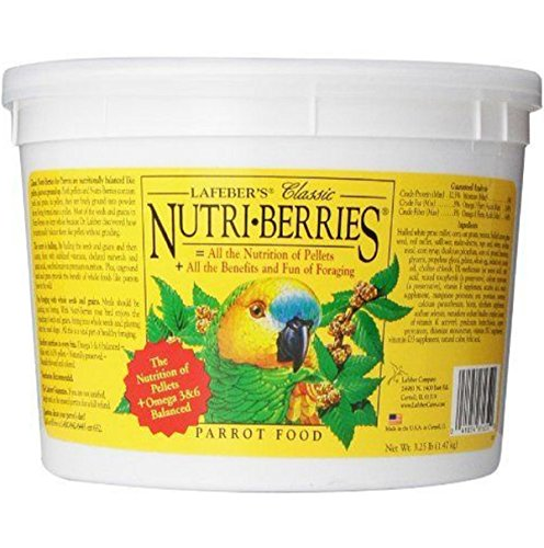 Lafeber Company Nutri-Berries Nutritionally balanced and naturally preserved Parrot Pet Food, - Lafeber Pellets Finch