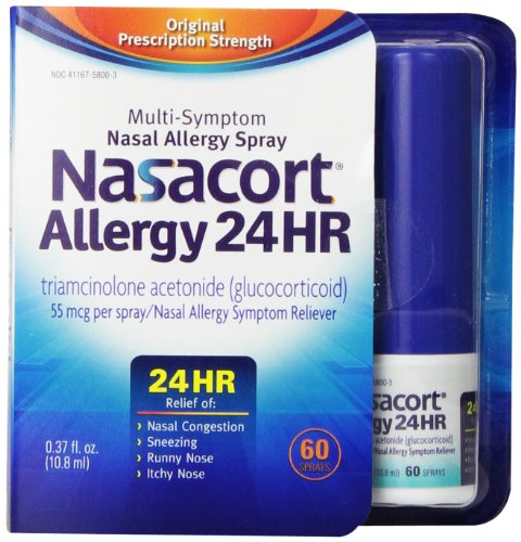 Nasacort Allergy 24 Hour 60 Sprays, 0.37 Fluid - Spray Allergy Nose