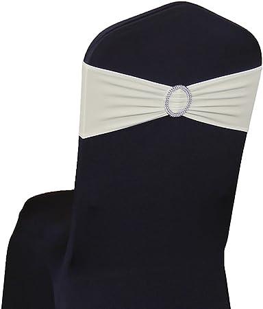chaise à mariage boucle pour en chaise nœud de enfiler avec de élastique Bandeau Lycraivoire50PC mOy0w8nvNP