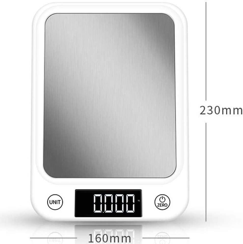 Balanza De Cocina Electrónica De Alimentos Detección De Alta Precisión Báscula Smart Digital Pantalla LCD Báscula Cocina Digital Precision Conversión De Unidades,10KG: Amazon.es: Hogar
