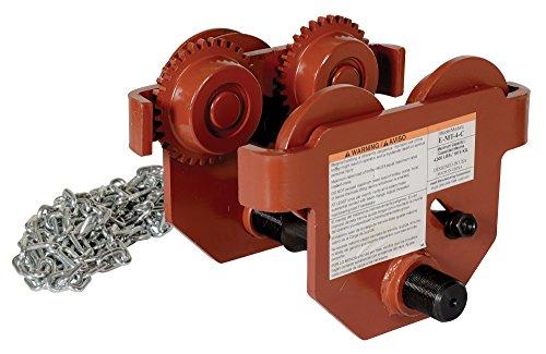 (Vestil E-MT-4-C Steel Low Profile Eye Manual Chain Geared Trolley, 4,000-lb. Capacity, 3 - 6-1/2