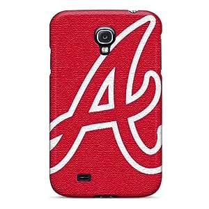 Shock Absorption Hard Phone Cover For Samsung Galaxy S4 (iXC1567fxxZ) Customized Lifelike Atlanta Braves Skin