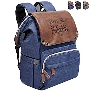 Diaper Bag Backpack,SUNPOW Large Multifunction Travel Baby Bag