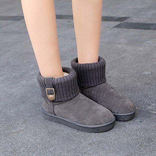Boots Hiver Pantoufles Bottes Courtes BIUBIONG Classiques Femme Femmes Gris Chausson 41PxYg