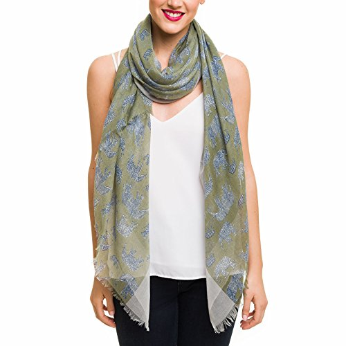(Scarf for Women Lightweight Animal Elephant Fashion Fall Winter Scarves Shawl Wraps (SS03))