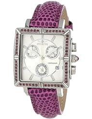 Invicta 10335 Womens Wildflower Classique Quartz Crystal Accented Purple Watch w/ 7-Piece Leather Strap Set