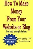 How To Make Money From Your Website or Blog: From basics to money in five hours