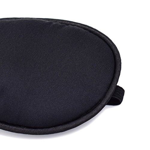 FCAROLYN Pirate Eye Patch , Real Silk,No Leakage, Smooth , Soft and Comfortable (Black)