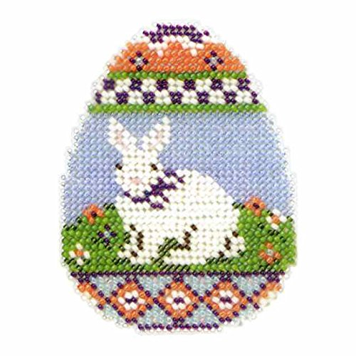 Bunny Egg Beaded Counted Cross Stitch Kit Mill Hill 2013 Spring - Stitch Mill Kit Cross