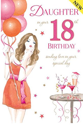 Daughter 18th Birthday Card Amazoncouk Kitchen Home