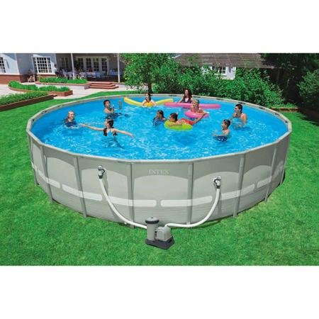 This Above Ground Pool Quickly And Easily Sets Up In As Little An Hour Features A Filter Cover Ladder Included Maintenance Kit