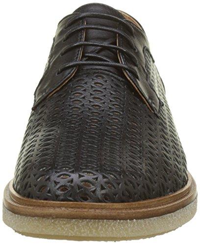 Cordones Sauvage para Derby Darwin Black Mujer Zapatos 15 Negro Schmoove Classic de qFTwXS4