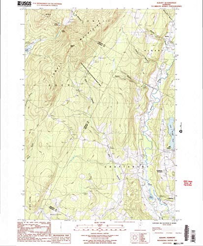 YellowMaps Albany VT topo map, 1:24000 Scale, 7.5 X 7.5 Minute, Historical, 1986, Updated 1987, 26.6 x 22 in - Paper