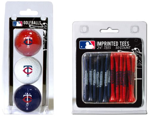 Team Golf MLB Minnesota Twins Logo Imprinted Golf Balls (3 Count) & 2-3/4