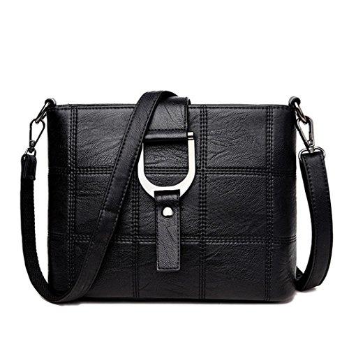 Donna Crossbody Black Luxury in pelle Tracolla 87wgfOx