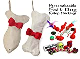Cheap Stocking Pet Cat Dog for Christmas filled with Toys Bone Fish (Bone/Dog)
