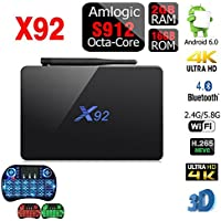 X92 2GB RAM 16GB ROM Android 7.1 OS Smart TV Box Amlogic S912 Octa Core CPU 5G WiFi with Backlit Keyboard
