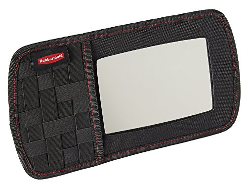 Rubbermaid Automotive Sun Visor Car Accessory: All Purpose Storage Organizer with Vanity Mirror and Elastic Grid
