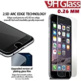 iPhone 7 PLUS Screen Protector Tempered Glass Screen Protector Solobay Invisible Protective Glass for iPhone Scratch Free Perfect Fit (2 in1 packing) (Tempered/7 PLUS)