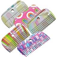 Roma Patterned Mane Comb Rainbow Stripes