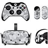 MightySkins Protective Vinyl Skin Decal for Oculus Rift CV1 wrap Cover Sticker Skins Gray Polygon