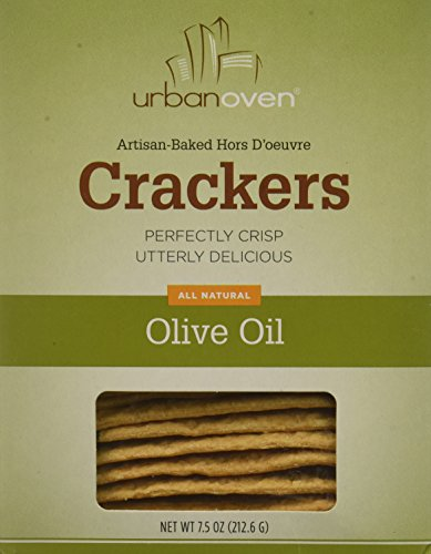 Olive Crackers Oil - Urban Oven Olive Oil Crackers (Pack of 6)