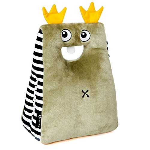 BCOZZY Kids- Happy Monster Pillow - Keeping Child's Company at Home and on the-go. Green
