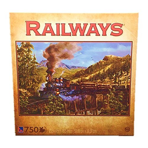 orden ahora disfrutar de gran descuento Railways Logging Train 750 Piece Jigsaw Puzzle by Kevin Daniels Daniels Daniels by Sure-Lox by Sure-Lox  promociones