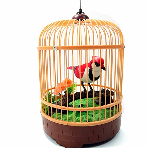 (Animated Chirping Bird in Bird Cage)