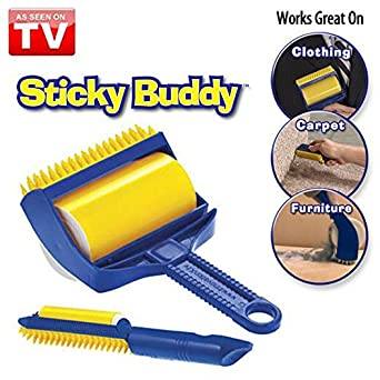 Absales Sticky Buddy Reusable & Washable Lint Cleaning Roller Brush Fluff Fur Hair Remover
