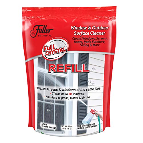 Full Crystal Refill Kit - 1 lb. Bag of Crystal Powder Exterior Window Cleaner for Glass and Screens (Cleans Up to 80 Windows) ()