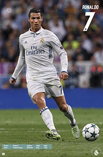 Cristiano Ronaldo Poster - Trends International Real Madrid - C Ronaldo 16 Premium Wall Poster, 22.375