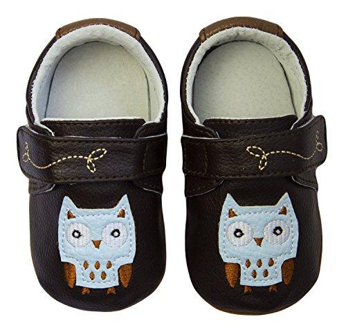 Rose & Chocolat Rcm Night Owl Brown - Zapatos para bebes Bebé-Niños Marrón (brown)