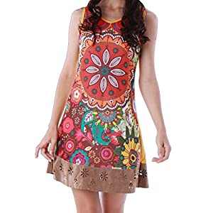 Panasiam - Vestido colorido de algodón en tallas S, M, L y XL, existencias limitadas (producto de boutique) | DeHippies.com