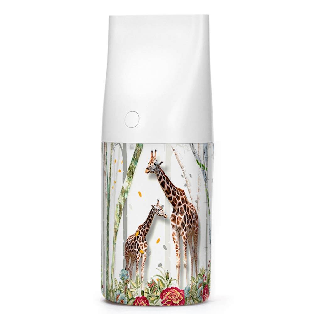 SIREG Giraffe pattern Aroma Diffusers,3D Printed Aromatherapy Essential oil Diffuser for Home/Room/office/Car,USB Powered,White LED Light,320ml Capacity