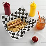 1000 Sheets - Food Basket Liner Deli Paper Sandwich Wrap Paper 12inx12in (Black)