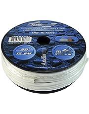 50 ft AWG Estaño alambre de cobre OFC de grado marino altavoz Cable de audio bañados de calibre 16